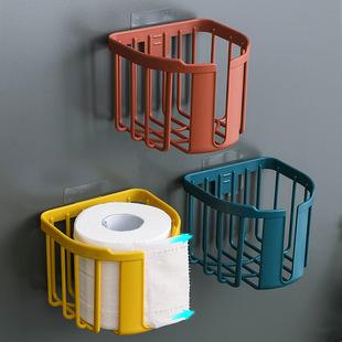 家用卫生间厕所卷纸巾盒厕纸抽纸巾架卫生纸置物架免打孔壁挂式