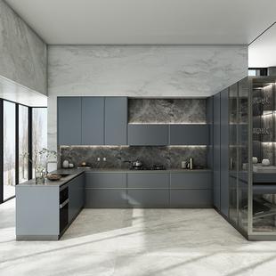 皮阿诺整体橱柜定制厨房柜全屋装修石英石台面厨柜定做开放式轻奢