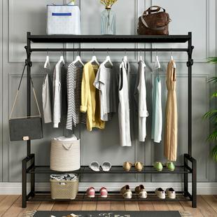 挂衣架落地卧室折叠晒衣服架子简易单杆室内晾衣杆家用阳台凉衣架