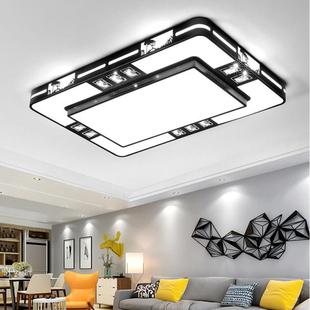 客厅灯简约现代家用长方形大灯卧室餐厅阳台灯具新中式led吸顶灯