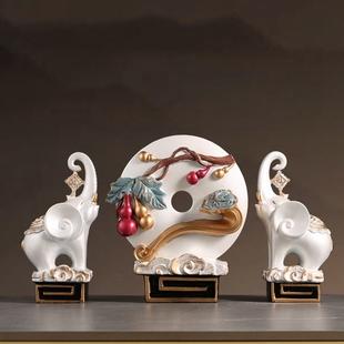 新中式家居简约招财象工艺品客厅玄关酒柜葫芦装饰品摆件新婚礼物