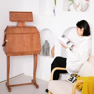 中古机器人奈若复古酒柜客厅储物柜收纳柜创意梳妆台叉腰机器人