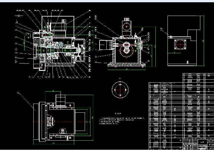 CK6130车削中心动力转塔刀架设计机械设计说明书CAD图纸