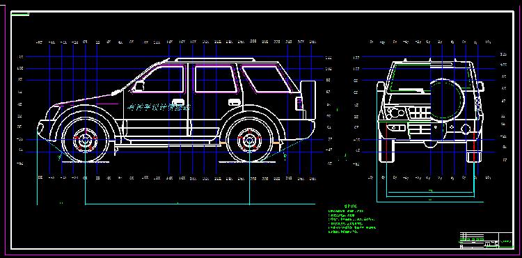 柴油动力SUV的整体设计(CAD图+翻译)车辆工程说明书CAD图纸