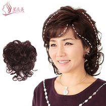 斜刘海发顶卷发片头顶遮白发补发块短卷发真人发丝假发片送妈妈