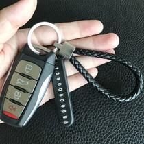 创意钥匙扣挂件小巧精致手工个性礼品牌丢牌防手机号简约车汽车。