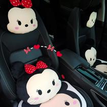 汽车头枕护颈枕可爱车用抱枕腰枕腰靠车内座椅卡通靠枕车载用品女