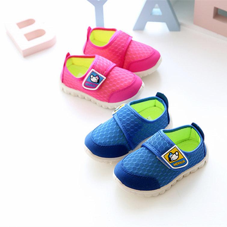 韩范夏秋季透气网童鞋男女小童鞋软底休闲运动鞋1-10岁中大童鞋子