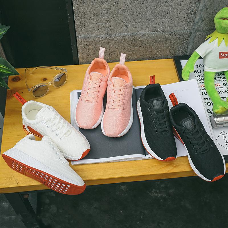 女孩网面运动鞋10-16岁青少年学生透气跑步鞋12-14岁大童休闲板鞋
