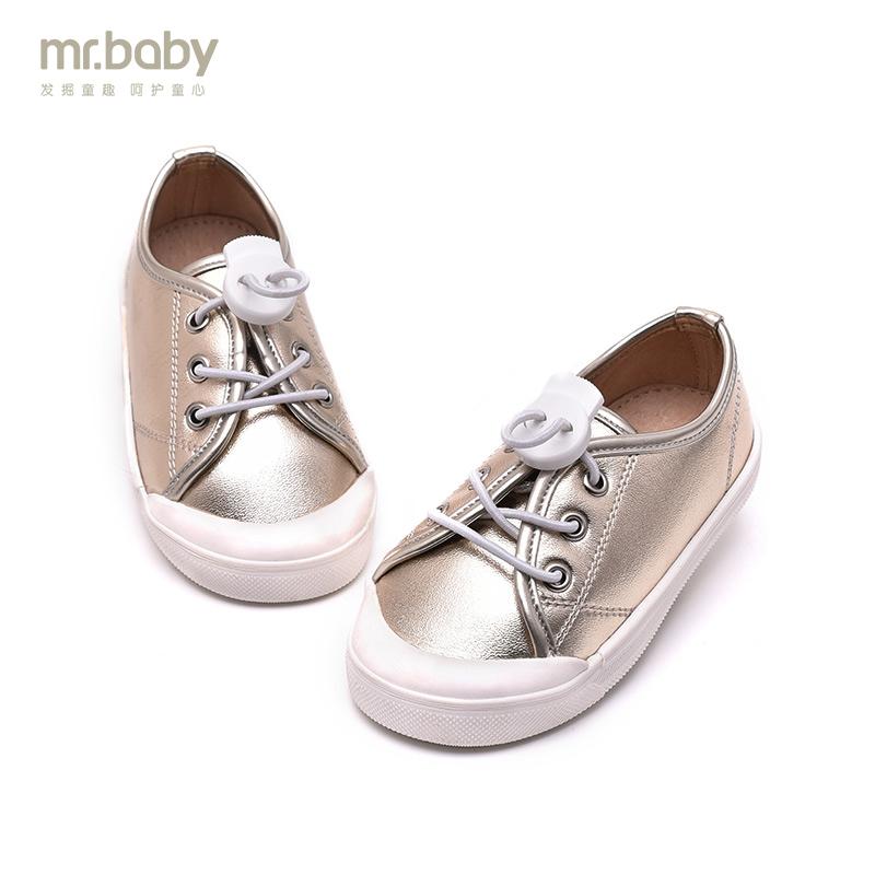 mr.baby2017春秋儿童运动鞋儿童休闲鞋时尚金银色儿童运动鞋新款