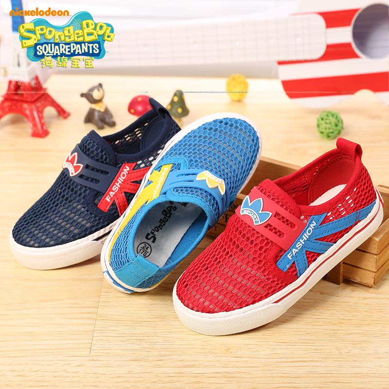 美国品牌春夏新款儿童运动休闲童鞋男童网鞋女童网眼透气鞋网布鞋