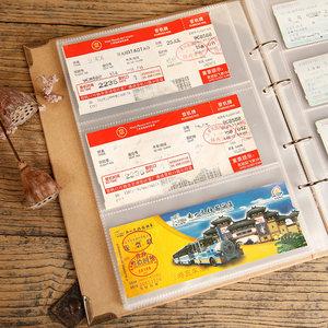 电影票<span class=H>硬币</span>影集相<span class=H>收藏</span><span class=H>册</span>小钱币插页式飞机票收纳<span class=H>盒</span>火车票旅行简装
