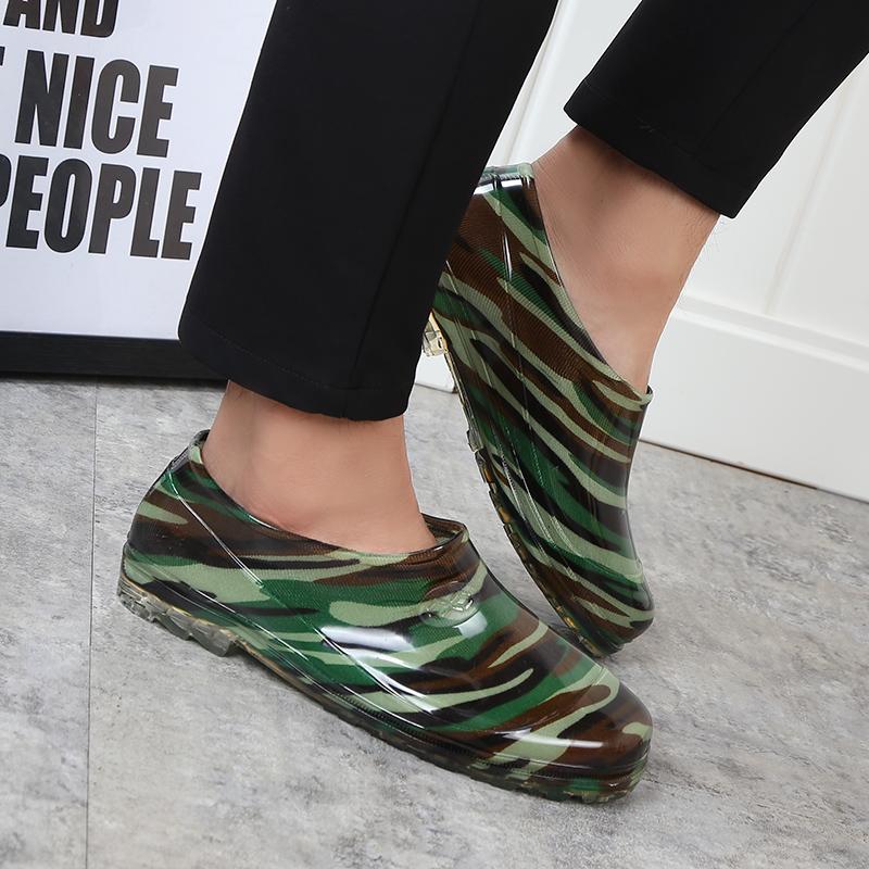 夏季男女雨鞋浅口低帮水鞋厨房鞋洗衣鞋套脚防水胶鞋浅短筒雨靴男