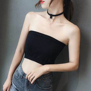 1f0473cb07 Cone point summer anti-glare underwear female tube top non-slip wrapped  chest wild bottomless strapless bra vest without chest pad