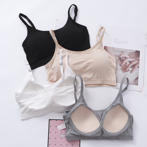 283f527f79 Summer anti-glare tube top wrapped chest without rims bra integrated chest  pad underwear women s wild short strap vest