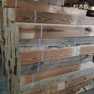 墙面吧台纯实木装修护墙地板装饰仿古背景摄影复古户外木地板彩色
