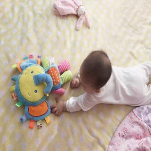 可啃咬标签睡眠公仔手抓握婴儿毛绒布娃娃宝宝手偶玩偶安抚巾玩具