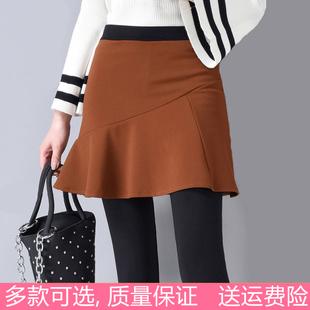 新品莫代爾夏季假兩件打底褲裙褲顯瘦大碼女裝外穿帶裙子長褲薄款