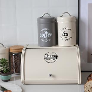 KL北欧ins餐厅摆设拍摄道具桌面零食面包收纳箱镀锌铁皮储物盒掀