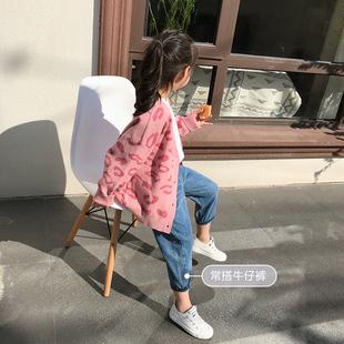 女童开衫毛衣儿童装针织毛衣外套春装2020新款中大童洋气上衣韩版