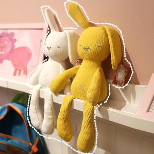 可咬安抚兔公仔毛绒玩具婴儿睡觉抱枕布娃娃玩偶女孩宝宝生日礼物