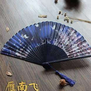 折扇舞蹈 汉服古风木制舞蹈配饰手持物古典道具扇子折叠仙日式扇