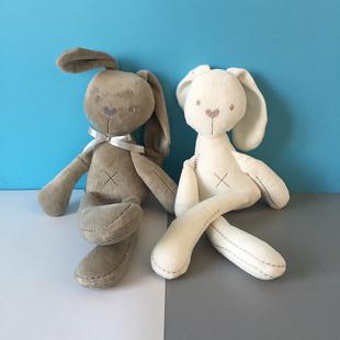 英国贵族长腿兔婴儿可入口啃咬玩偶新生儿可爱小兔安抚宝宝布娃娃