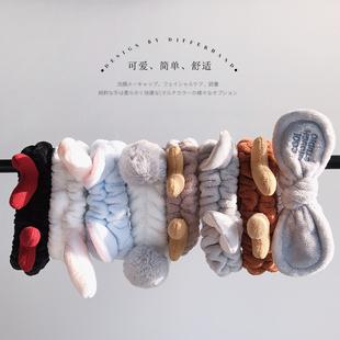 韓國網紅束發帶洗臉用女簡約敷面膜頭箍頭套可愛發箍發捆發卡頭飾
