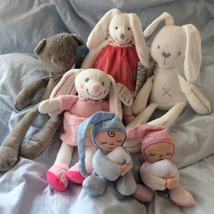 包邮新生婴儿手抓毛绒玩具入口可咬布偶安抚玩偶娃娃陪宝宝睡眠