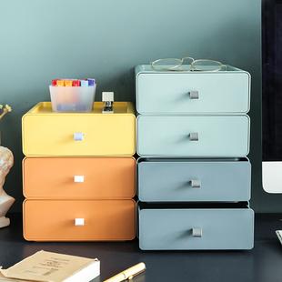 抽屜式桌面收納盒儲物盒子小箱辦公室書桌上置物架整理櫃宿舍神器