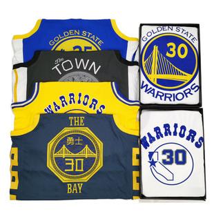 勇士队球衣35号杜兰特汤普森城市版男女30号AU篮球服宽松外穿复古