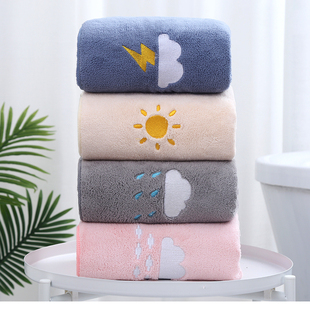 浴巾家用比纯棉吸水速干不掉毛男女裹巾婴儿童加厚情侣大毛巾套装