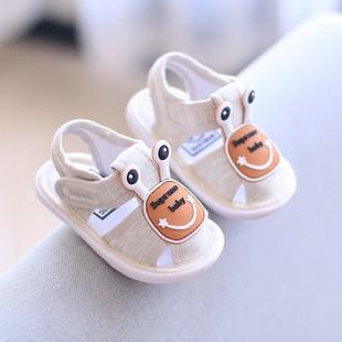 宝宝鞋子1-3岁男童婴儿凉鞋女小童夏季网鞋儿童鞋软底学步鞋