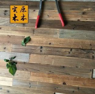 木头墙面背景复古复古风风化长方形地板装饰家用板材旧木板护墙