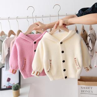 2019女童装秋装新款百搭款韩版婴儿童针织开衫外套女宝宝洋气毛衣