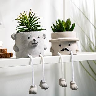北欧创意室内装饰仿真绿植摆件多肉植物假花小盆栽ins风盆景摆设