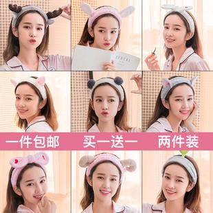 韓國洗臉發帶可愛簡約網紅敷面膜束發帶發箍女發捆頭飾頭箍漱化妝