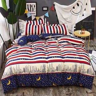 限时打折床上四件套全棉纯棉男女学生宿舍单人床单被套三清仓促销