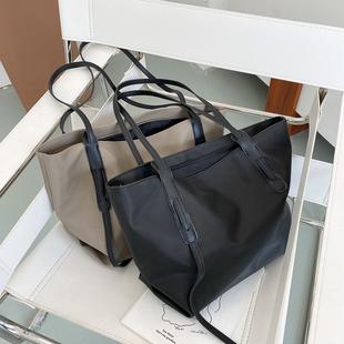 包包女大容量单肩包2020新款时尚尼龙帆布托特包女通勤牛津布大包