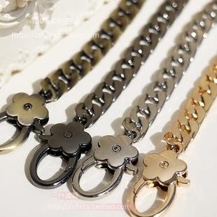 9MM链条包包链肩包带子斜挎包带金属包链包带链条配梅花扣金属链