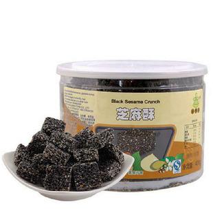 上海特产杏家庄黑芝麻酥 糕点休闲零食400克/罐 低糖食品