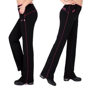 女士成人广场舞蹈裤团体运动健身裤女弹力大码练功高腰健美操长裤
