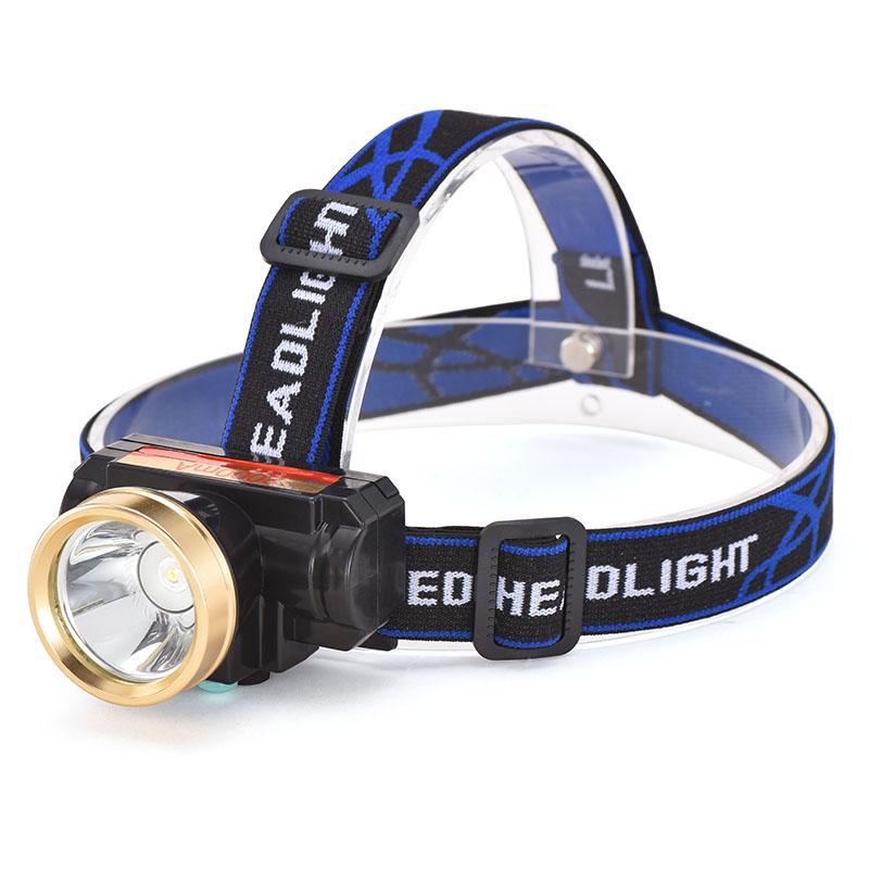 米 3000 头灯强光夜钓灯充电远射手电筒打猎超亮头戴式迷你 LED 小型