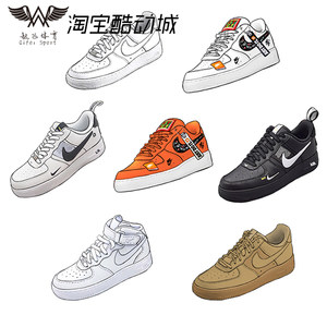 NIKE AIR FORCE 1AF1纯白空军一号low低中高帮男女板鞋315115-112