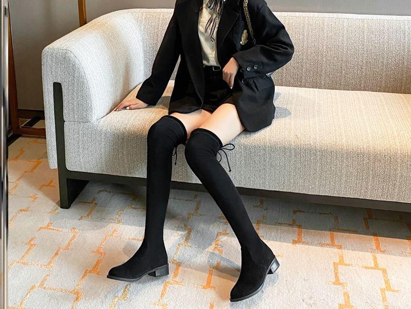 淘宝女士短靴子_2020秋冬季长筒过膝显瘦瘦靴子女英伦风复古工装靴小个子加绒 ...