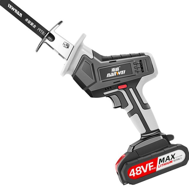 南威电锯家用切割机伐木锂电往复锯户外小型手持充电式电动马刀锯