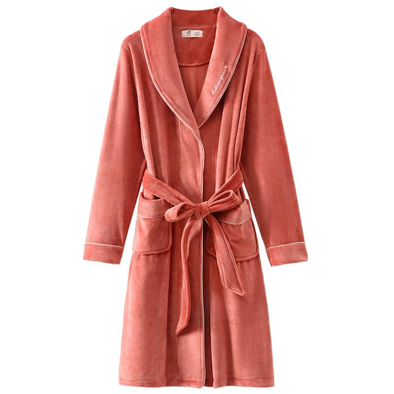 睡袍秋冬季冬款长款珊瑚绒加绒晨袍好用吗
