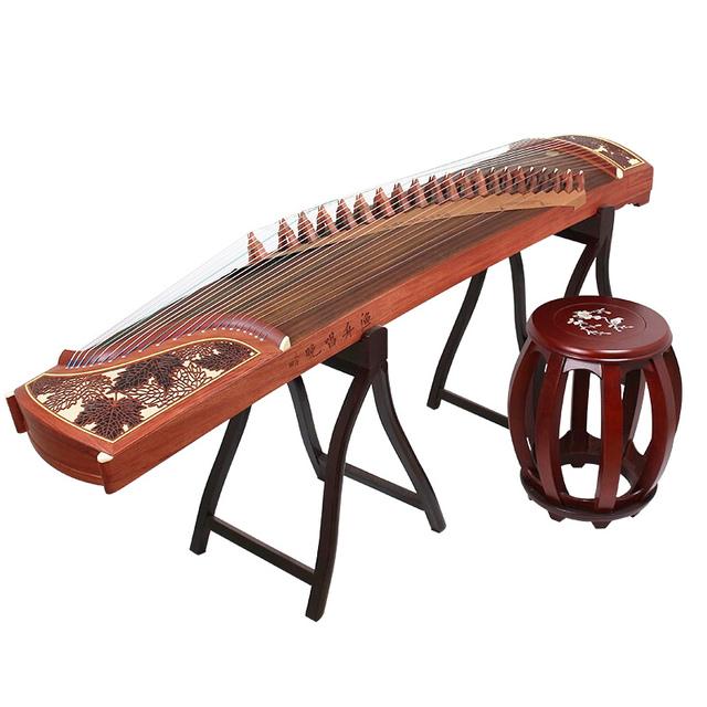 敦煌古筝官方授权694M-HF渔舟唱晚红枫耀眼考级/演奏古筝琴正品