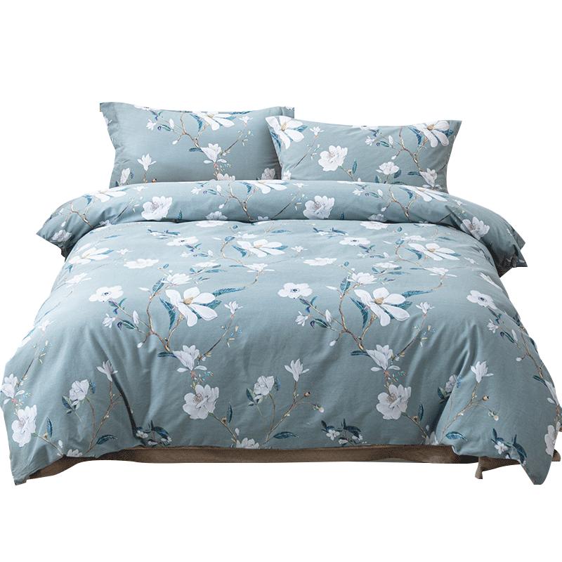 多喜爱美眠康全棉加厚四件套秋季纯棉磨毛套件被套床单床上用品