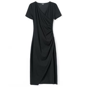 黑色连衣裙夏季2021新款小黑裙子